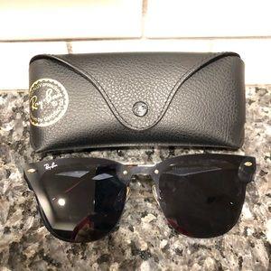 Rayban Clubmaster Blaze Sunglasses Black New